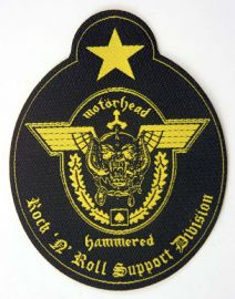Motorhead - 'Rock 'n' Roll Support Division' Shaped Patch